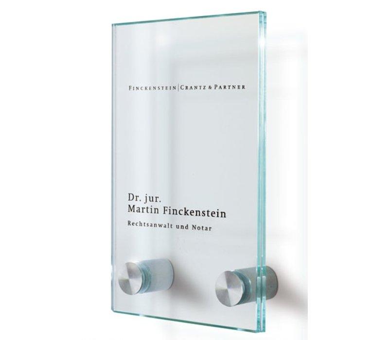 Cristallo deurbordje - 16h x 10b x 2,8d cm