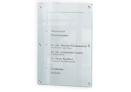 Sign Systems Cristallo signalisation d'entreprise - 100h x 60l x 2,8p cm