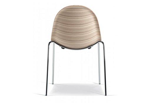 Plank Luna stoelen - hout