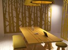 Buzzifalls Birch meuble de séparation