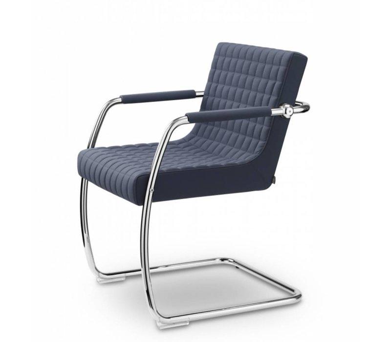 Rétro chaise de réunion en cuir ou tissu
