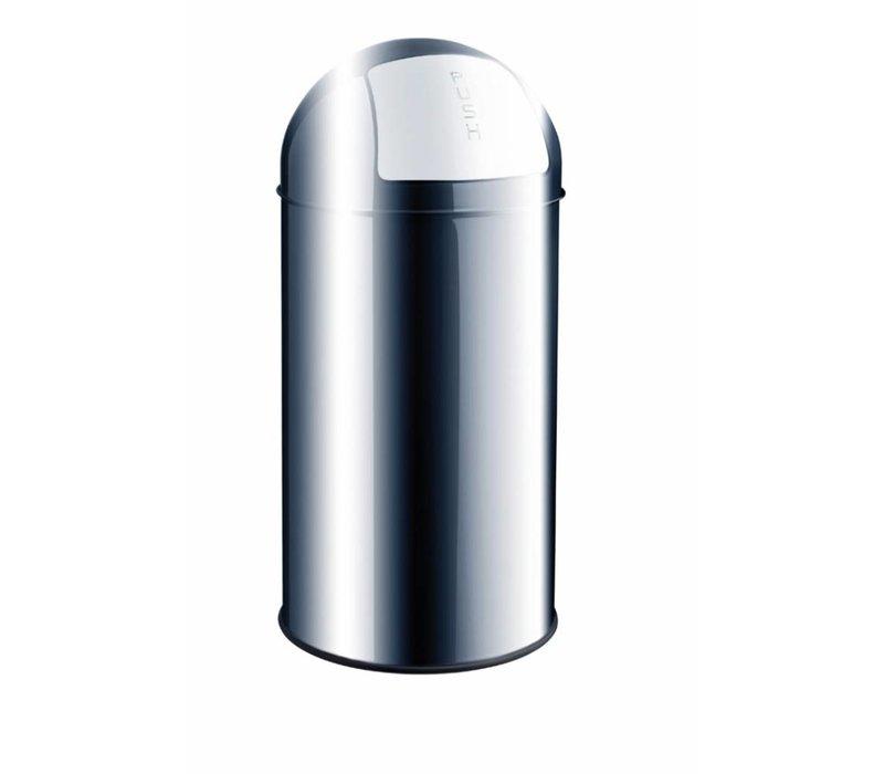 Push Bin RVS afvalbak 30L
