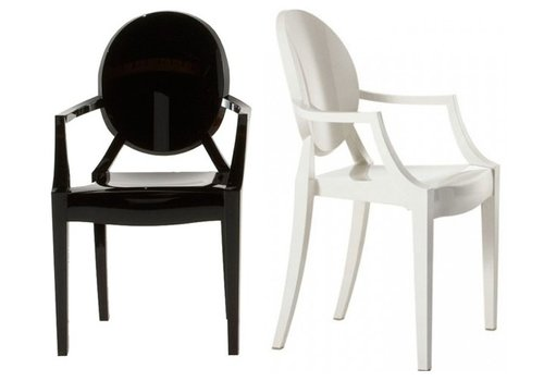 Kartell Louis Ghost chaise Set 4 pièces