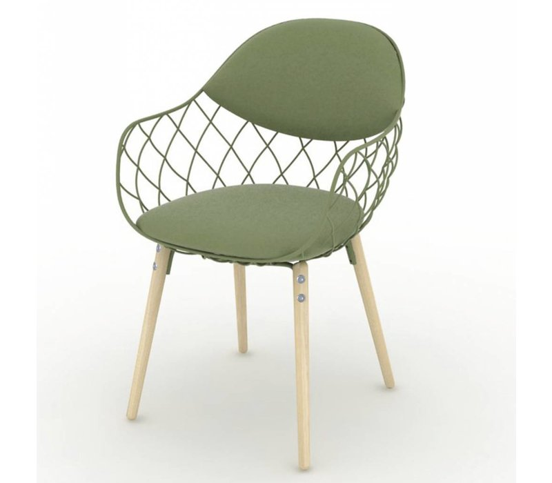 PIÑA stoel met beuken poten