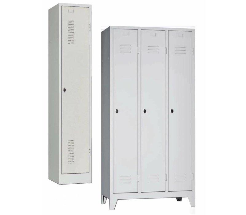 Metalen garderobekasten met 1 tot 3 deuren