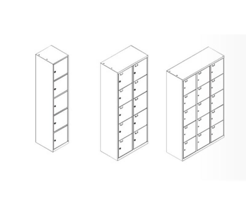 Metalen lockers of opbergkolom