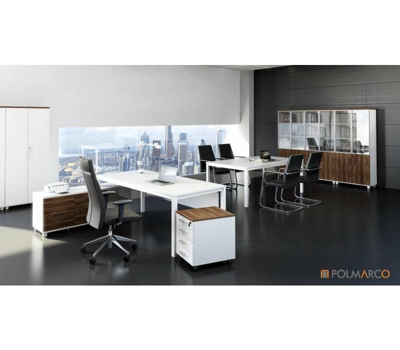 Spathio bureau de design avec armoires basse