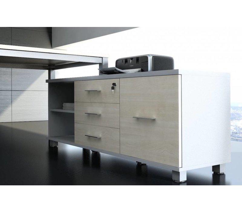 Bureau En Ladenkast.Spathio Design Bureau Met Lage Kast Brand New Office