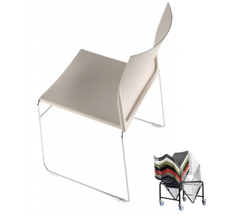 Scoop chaise empilable