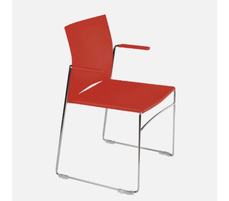 Scoop stoel met armleuning