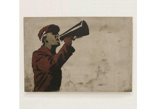 Jan Kurtz Speaker beton schilderij