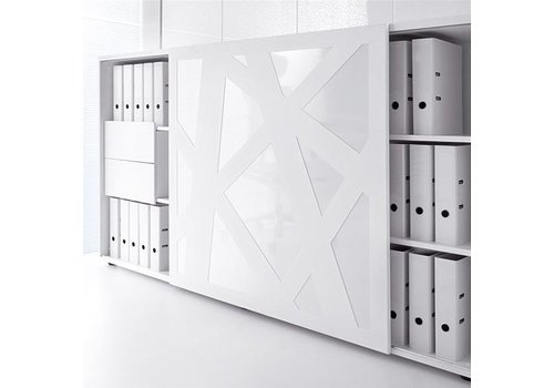 Mdd Zig Zag armoire avec portes coulissantes
