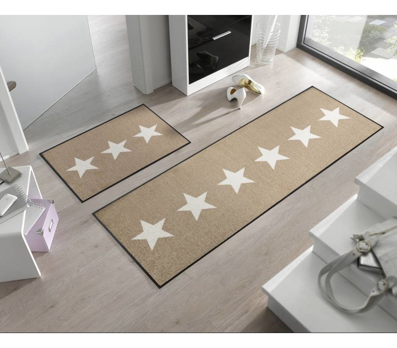Kleentex Stars Sand deurmat
