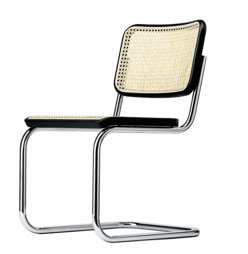 S6 V chaise cannée, sans accoudoirs