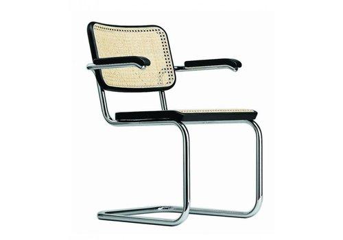 Thonet S64V chaise cannée, avec accoudoirs