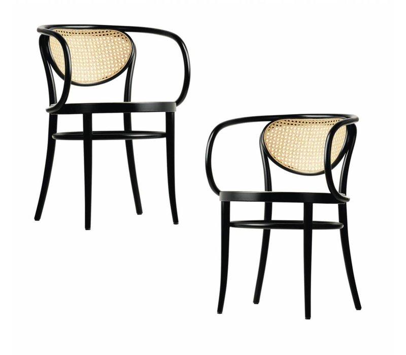 210R stoel met gevlochten riet
