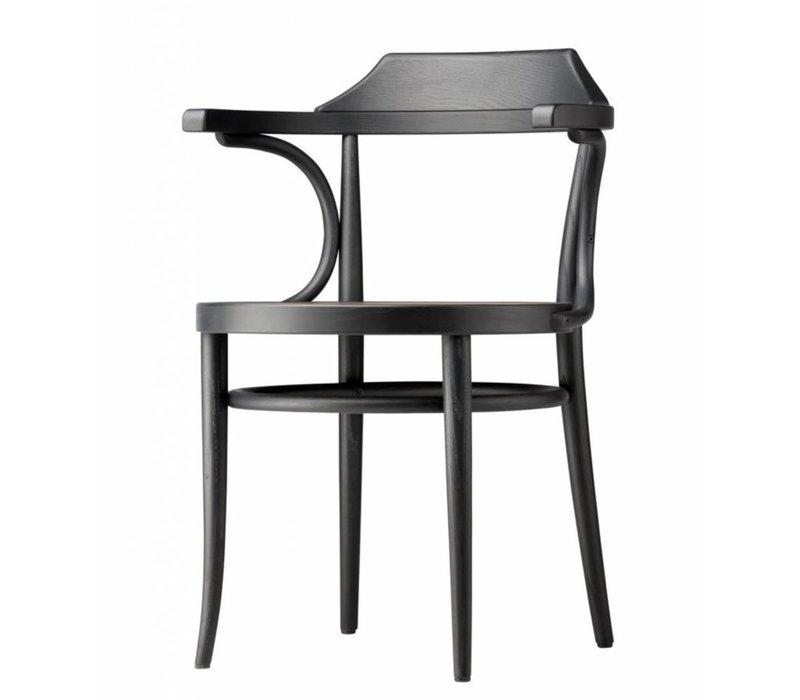 233 stoel met vlechtwerk of multiplex