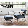 Thonet S411 fauteuil leder