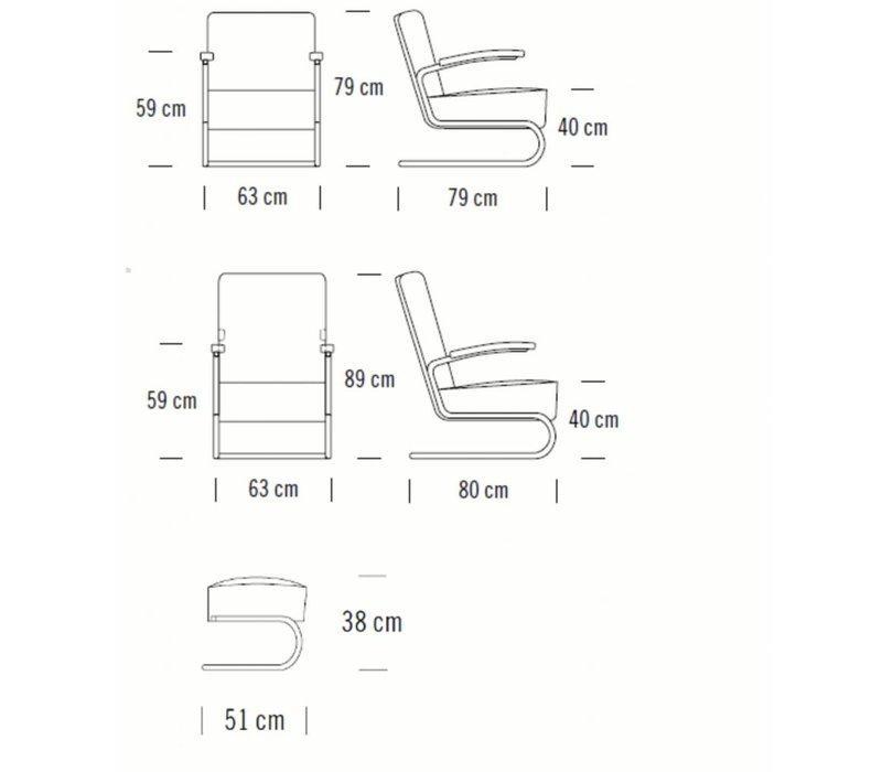 S411 LV fauteuil in koeienhuid