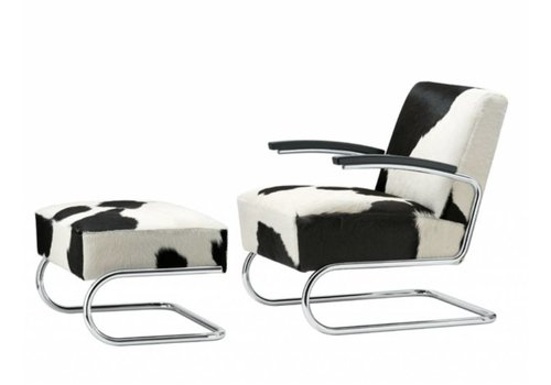 Thonet S411 LV fauteuil in koeienhuid