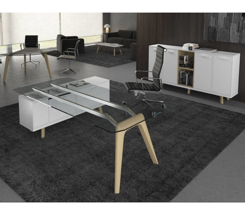 Rail desk contenitore directiebureau