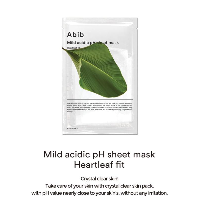 Mild Acidic pH Sheet Mask Heartleaf Fit-2