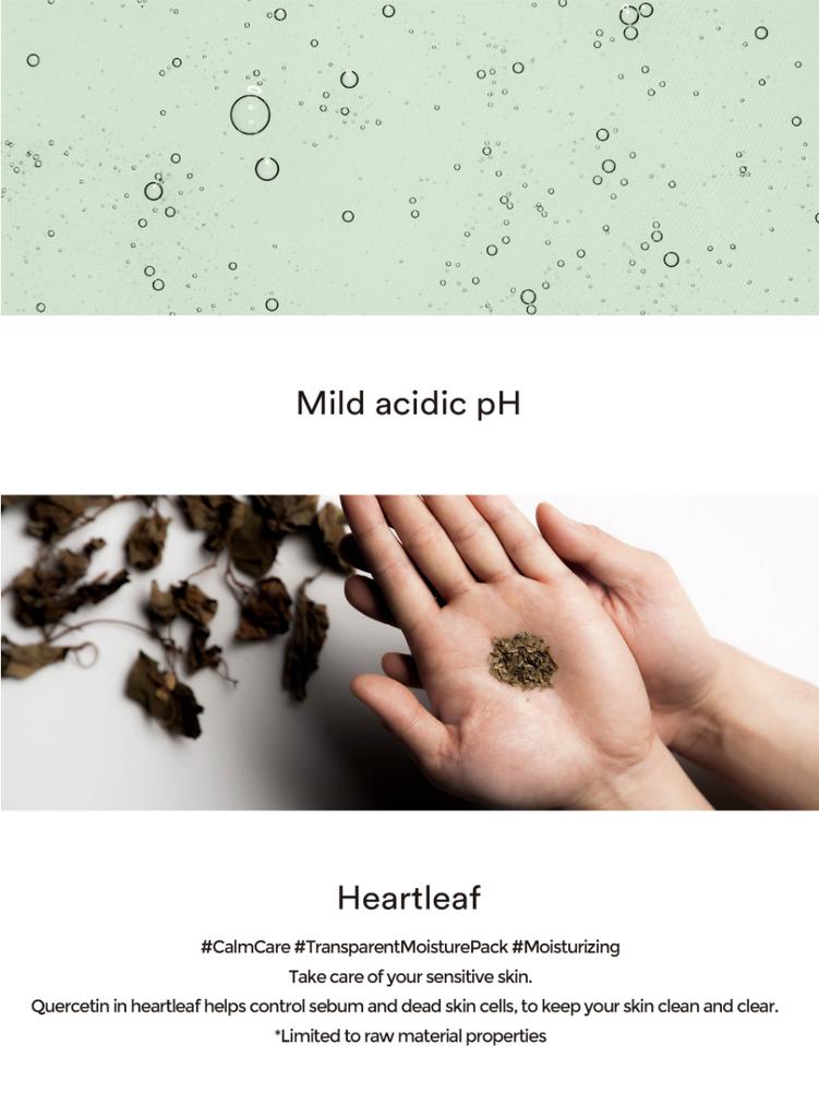 Mild Acidic pH Sheet Mask Heartleaf Fit-3
