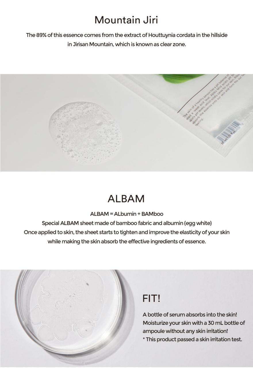 Mild Acidic pH Sheet Mask Heartleaf Fit-4