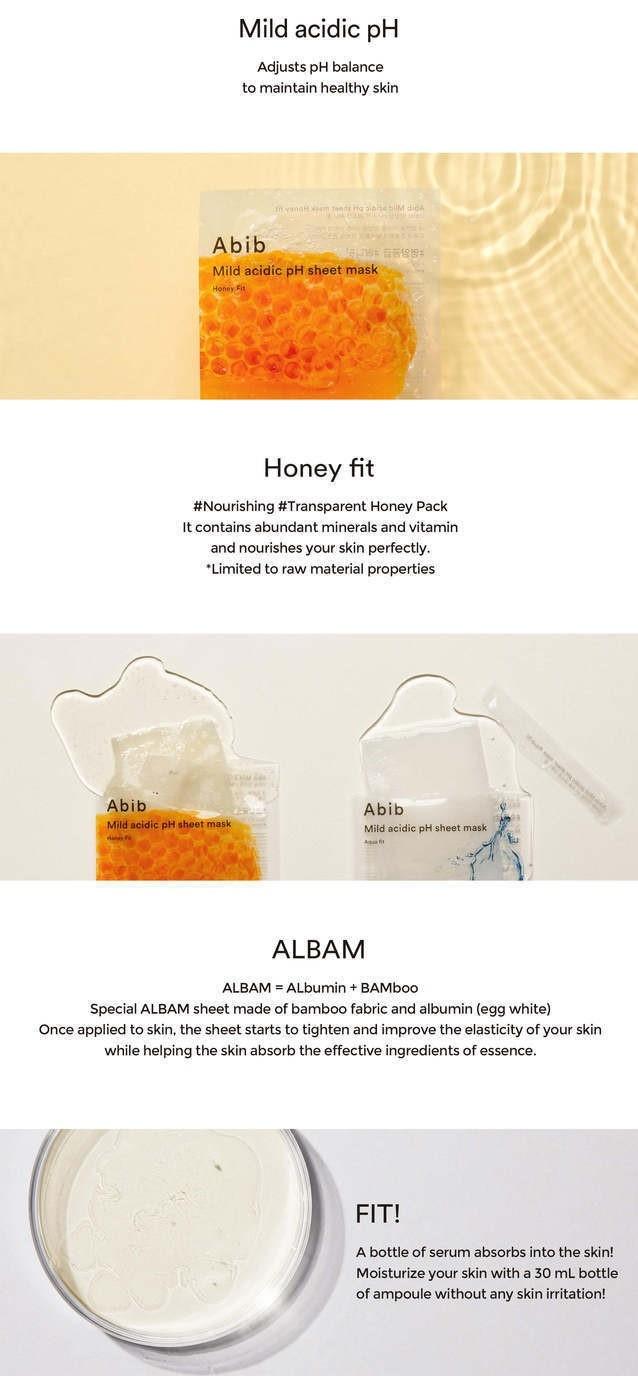 Mild Acidic pH Sheet Mask Honey Fit-3