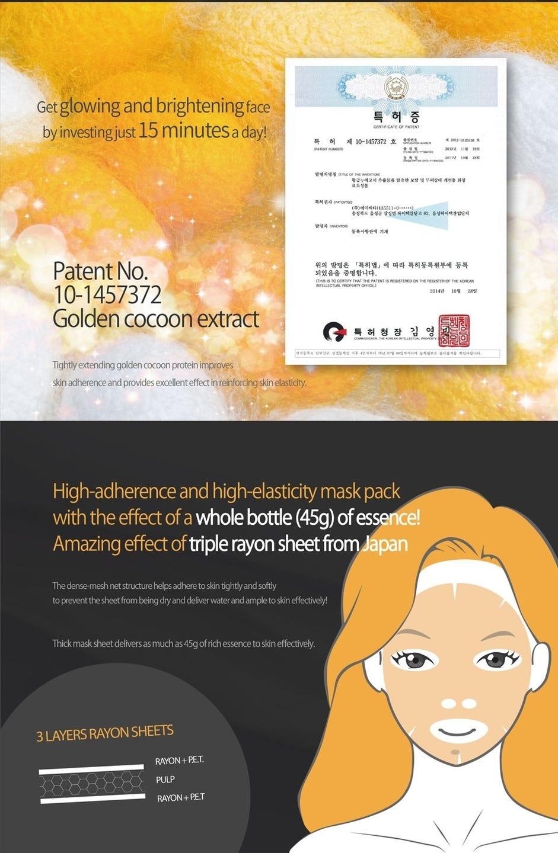 Water Luminous Golden Cocoon Mask Black-5