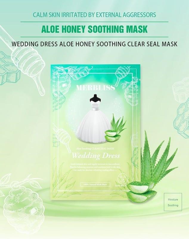 Wedding Dress Aloe Honey Soothing Clear Seal Mask-2