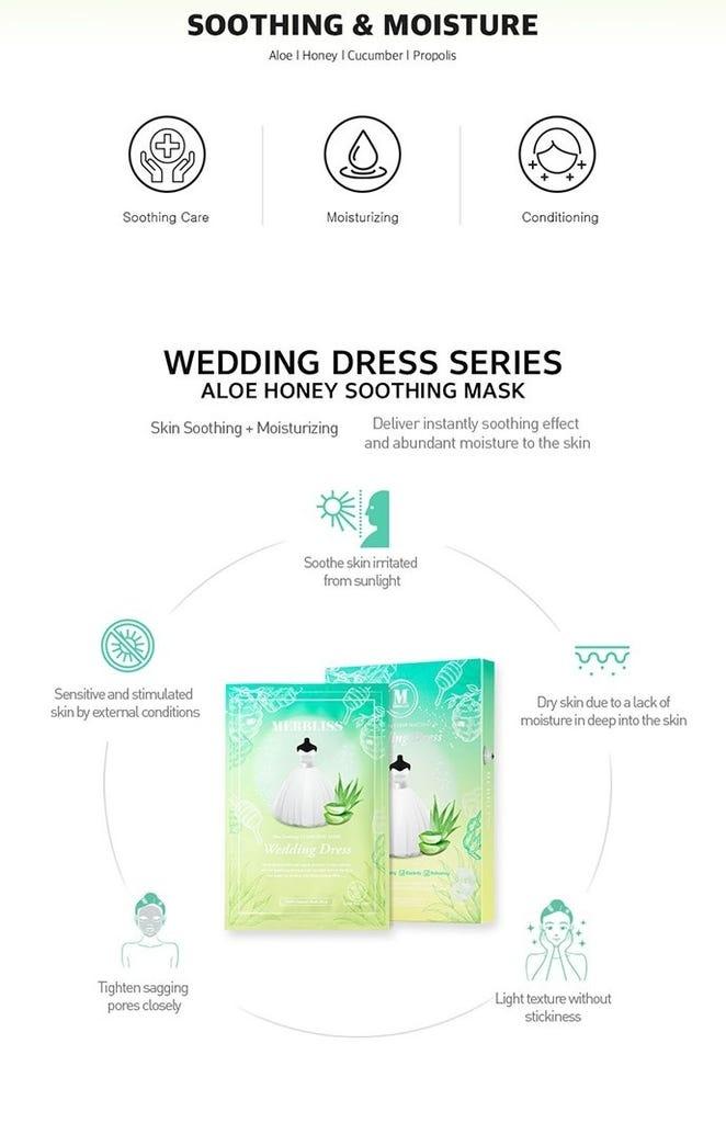 Wedding Dress Aloe Honey Soothing Clear Seal Mask-3