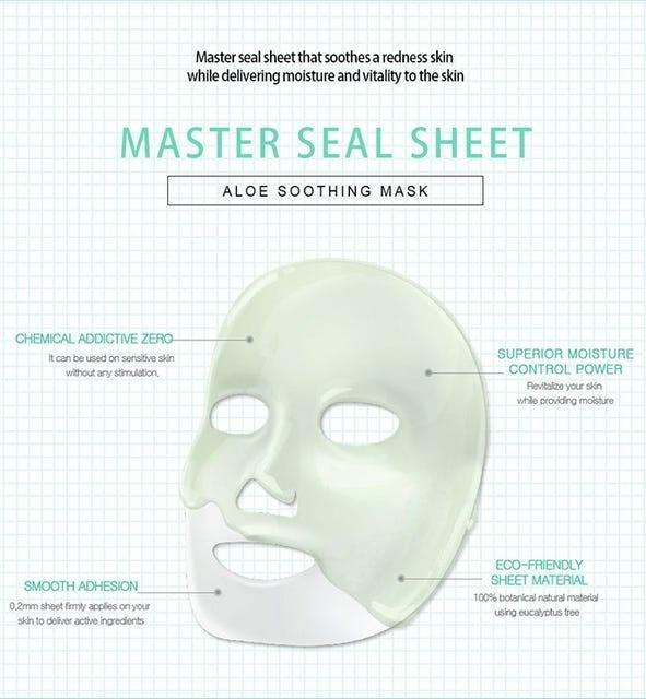 Wedding Dress Aloe Honey Soothing Clear Seal Mask-6