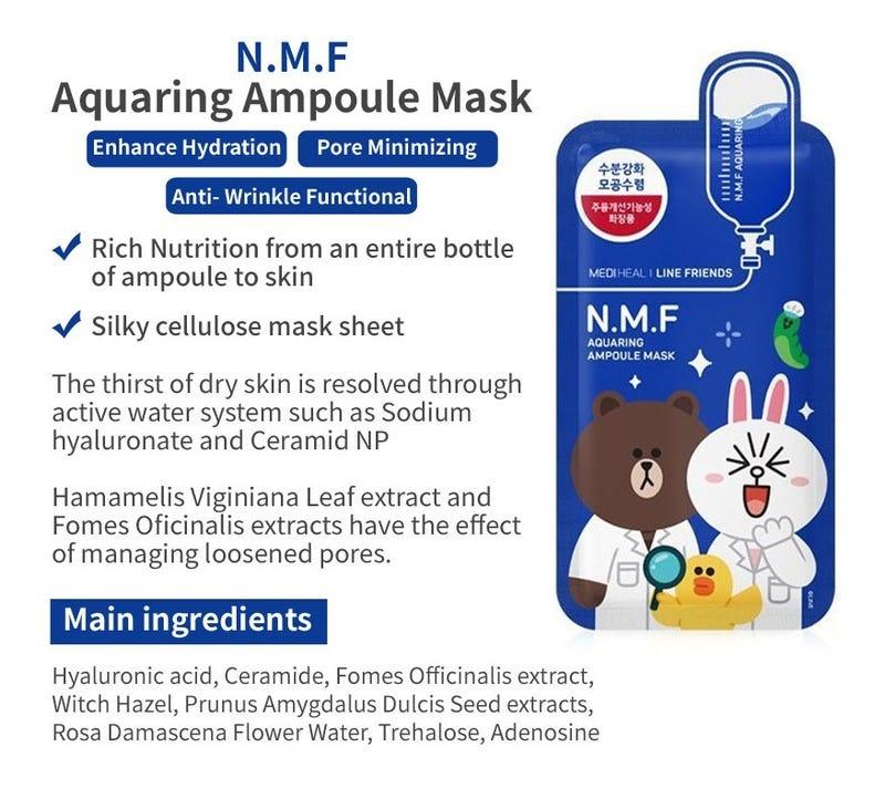 N.M.F Aquaring Ampoule Mask (Line Friends Edition)-3