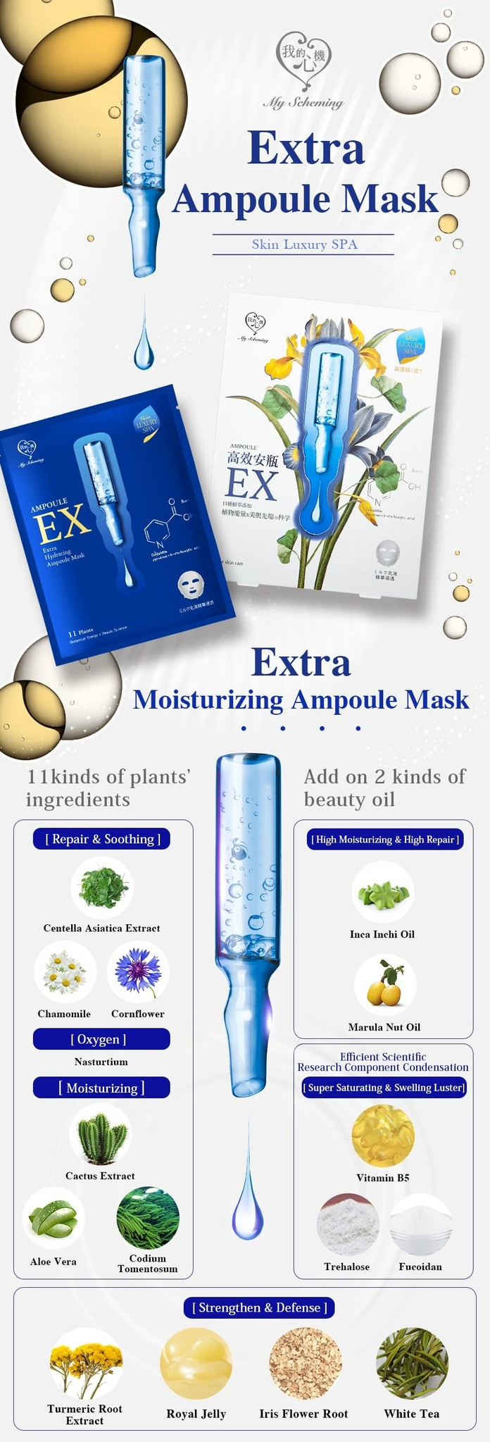 Extra Hydrating Ampoule Mask (4 Stk)-2