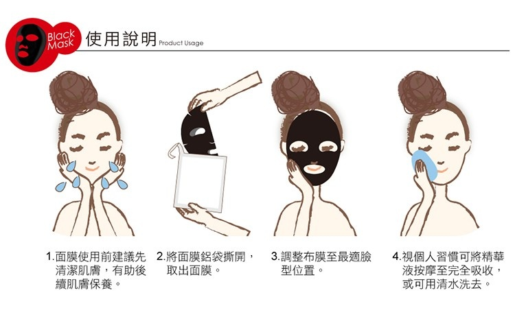 Ethyl Ascorbic Acid Brightening Black Mask-4