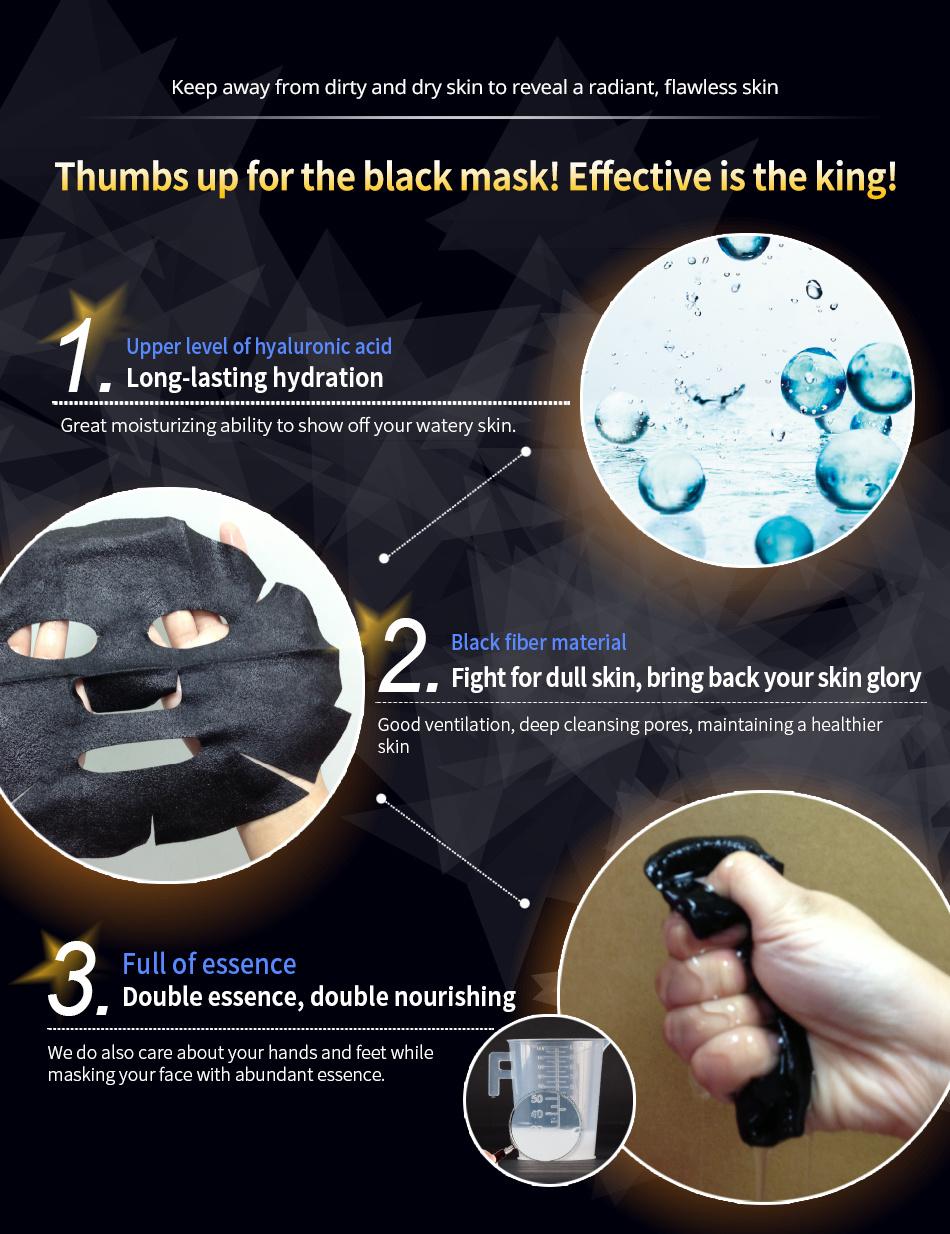 Raw Job's Tears Brightening Black Mask (8 pcs)-4