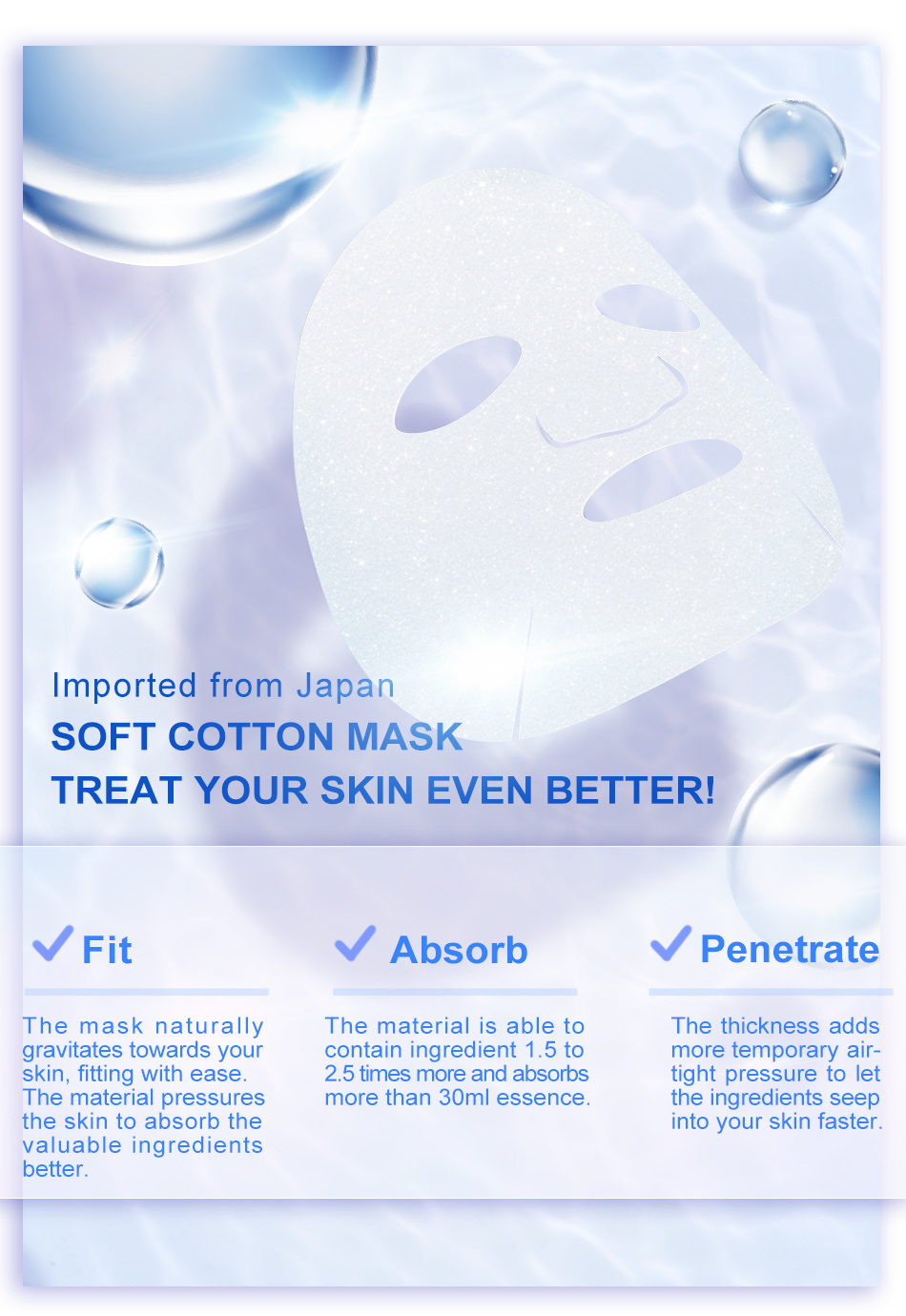 Six Essence Hyaluronic Acid Deep Moisturizing Mask (5 pcs)-5