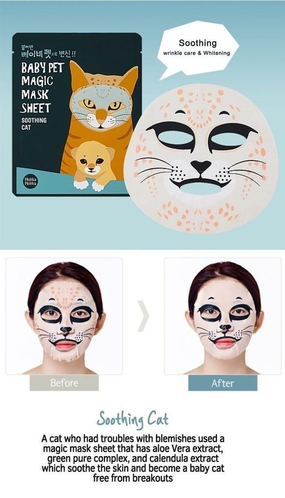 Baby Pet Magic Mask Sheet Soothing Cat-2