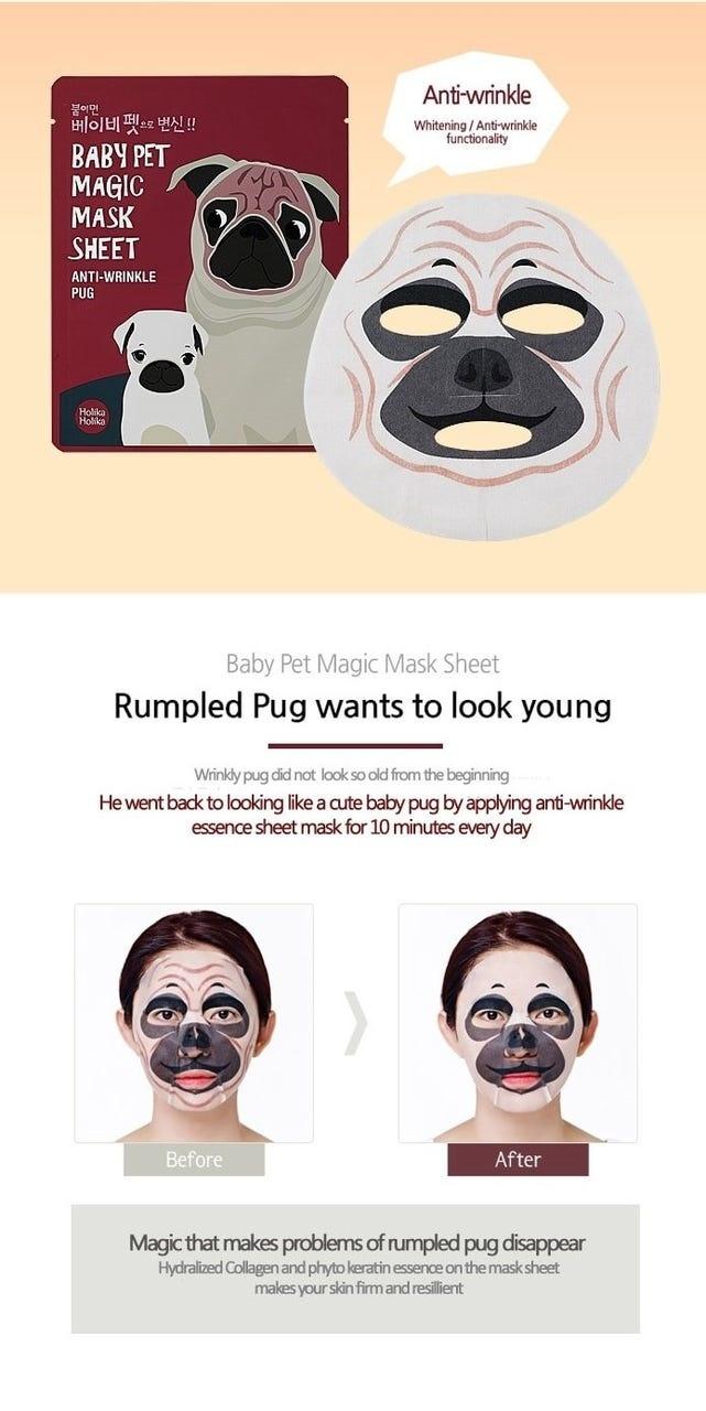 Baby Pet Magic Mask Sheet Anti-Wrinkle Pug-2