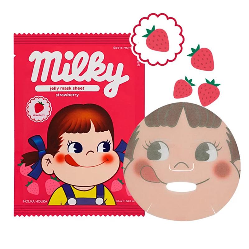 Jelly Mask Sheet Strawberry (Sweet Peko Limited Edition)-1