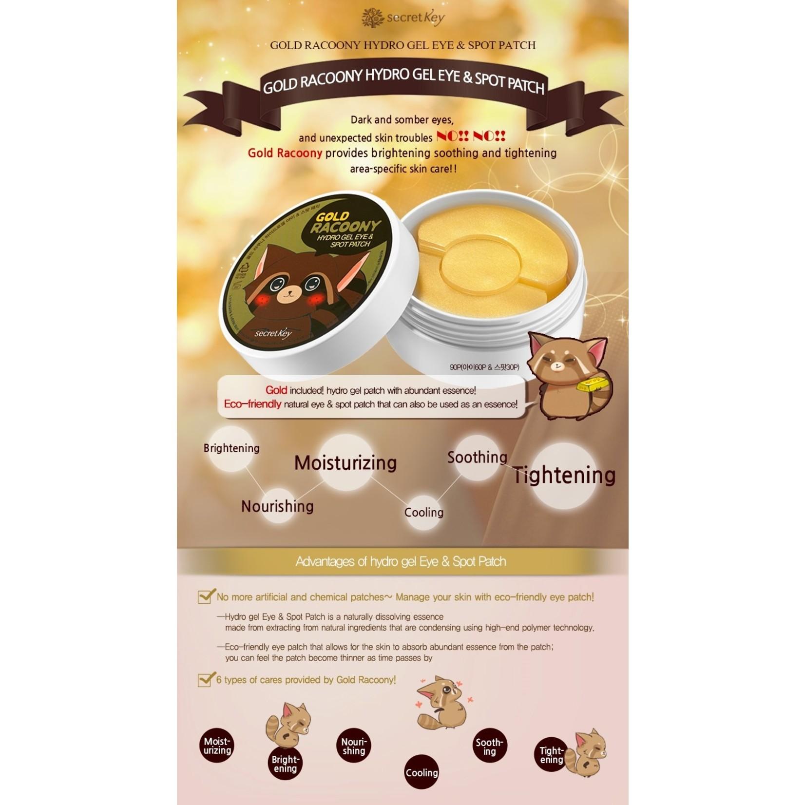 Secret Key Gold Racoony Hydrogel Eye & Spot Patch