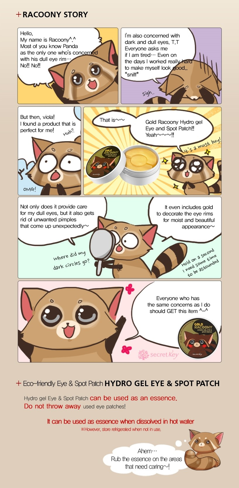 Gold Racoony Hydrogel Eye & Spot Patch-4