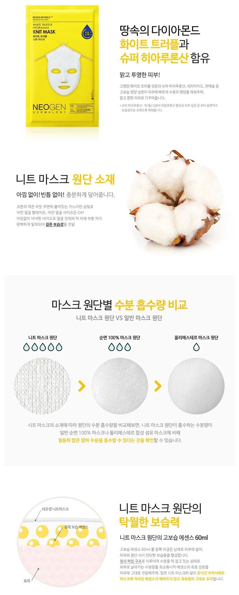 White Truffle Hydramax Knit Mask-3