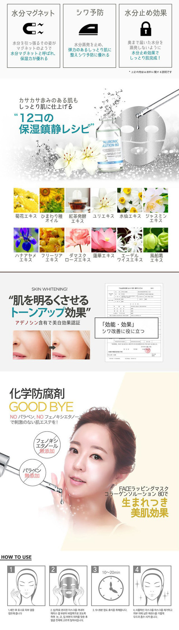 Face Wrapping Mask Hyaluronic Solution 80-4