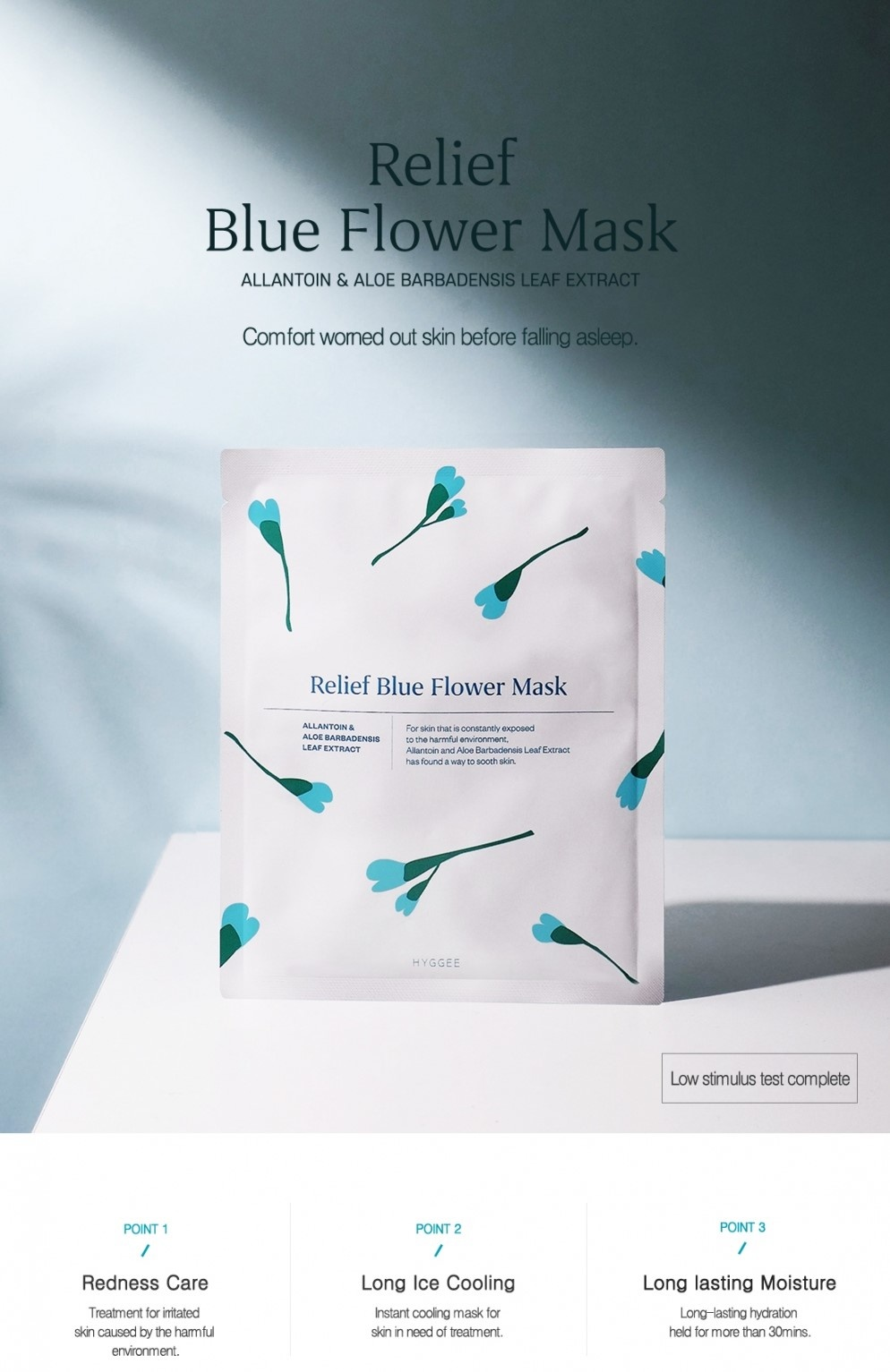 Relief Blue Flower Mask-2