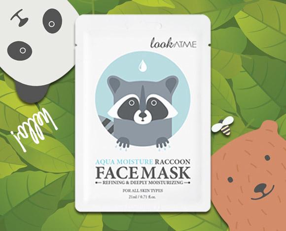 Aqua Moisture Raccoon Face Mask-2