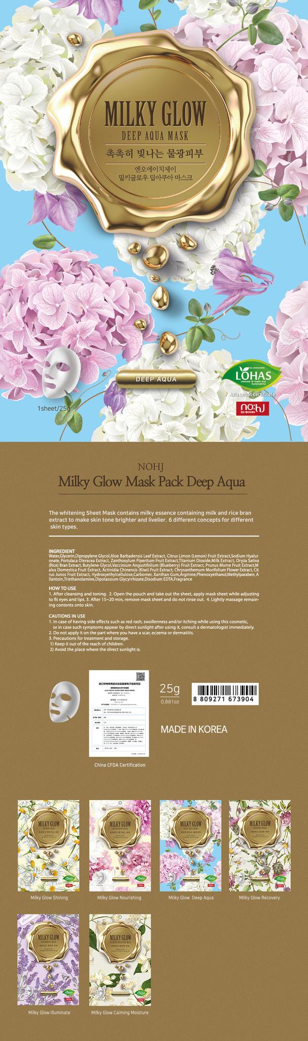 Milky Glow Mask Pack Deep Aqua-2