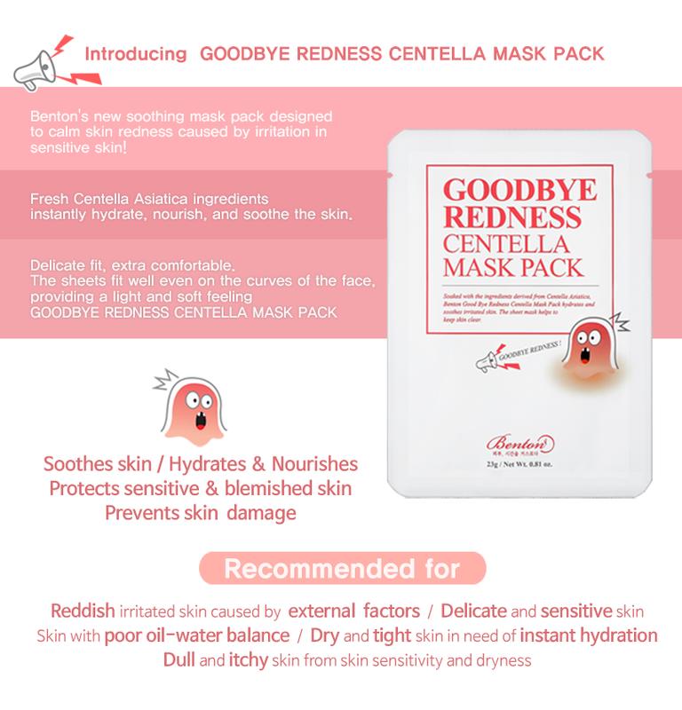 Goodbye Redness Centella Mask Pack-3