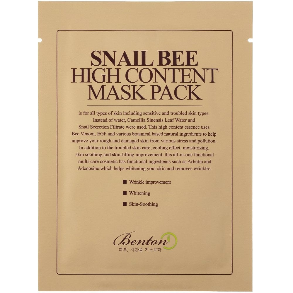 Snail Bee High Content Mask Pack-1